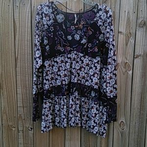 Free People floral swing peasant tunic